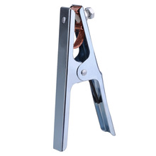 Practical 300A Grounding Welding Manual Welders Arc Earth Chrome-Plated Cable Clip Electrical Clamp Copper Gripping