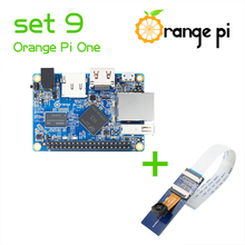 Orange Pi One SET 9  :Pi One H3 Quad-core Cortex-A7 and  Camera with wide-angle lens not for raspberry pi 2