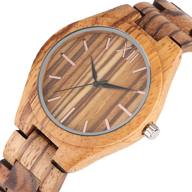 Luxury Full Wooden Watches Man Creative Bracelet Clasp Analog Nature Bamboo Quartz Wristwatch Male Clock Gifts Relogio Masculino<br>