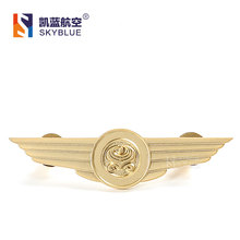 China Airlines Golden Badge Wing Pin Flying Medal for Airline Hostess Flight Crew Excellent Gift as Collection Souvenir