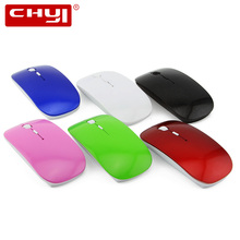 CHYI Wireless Mouse Ultra thin Optical Mouse Slim Cheap Mice for Computer Laptop(China)