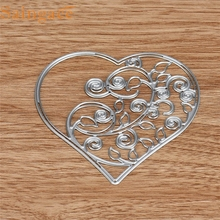 Home Wider Good Quality Flower Heart Metal Cutting Dies Stencils DIY Scrapbooking Album Paper Card Craft B Free Shipping