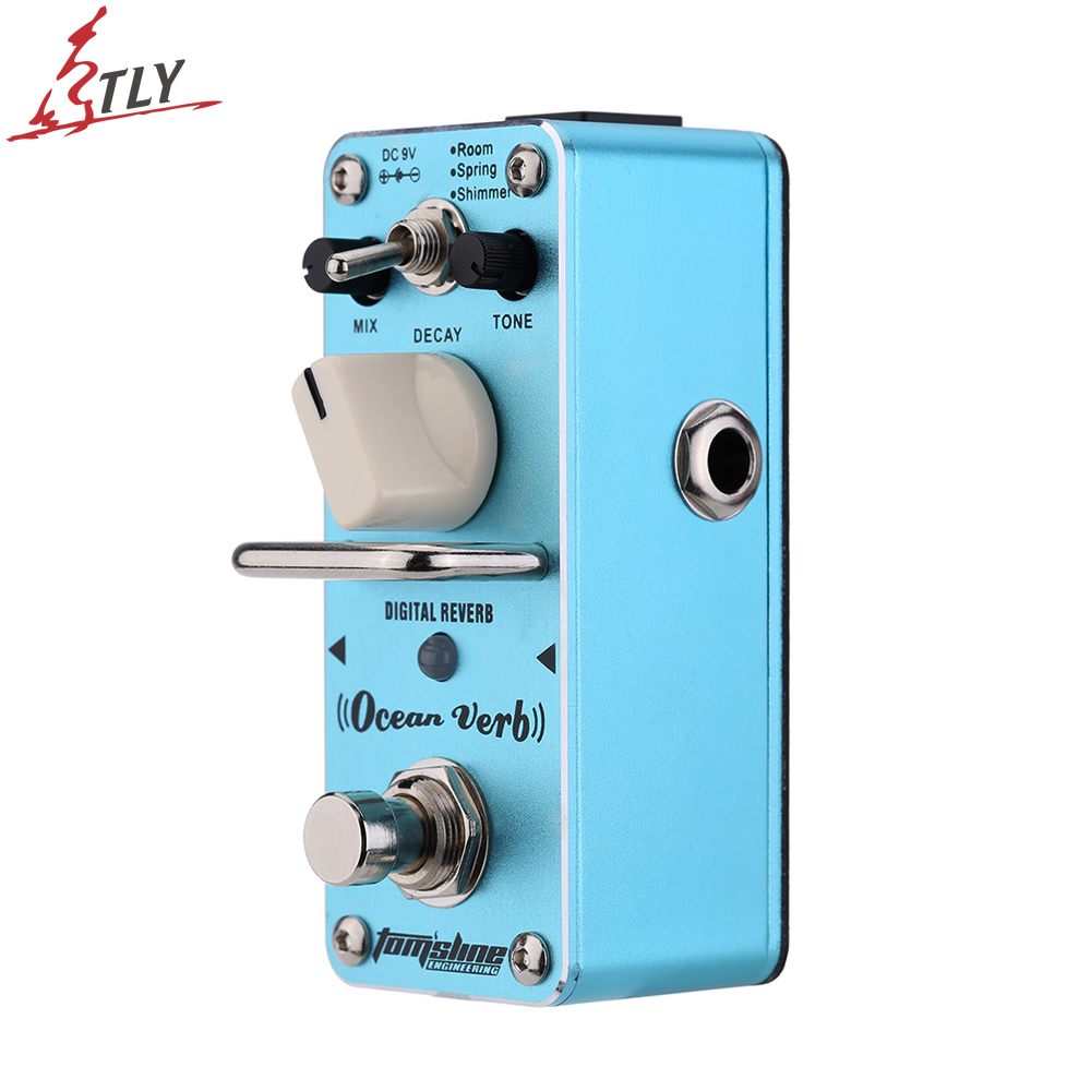 AROMA AOV-3 True Bypass Ocean Verb Digital Reverb Electric Guitar Effect Pedal Mini Single Effect Guitar Parts<br>