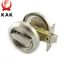 KAK Lock Stainless Steel 304 Cup Handle Recessed Door Cabinet Invisible Pull Handle Fire Proof Set Disk Ring Locks Hardware