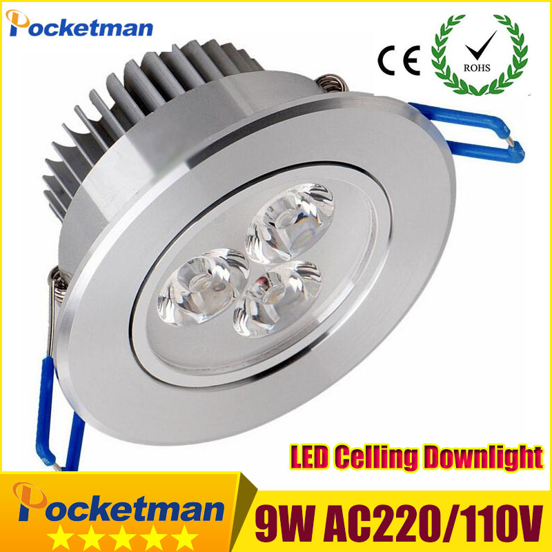 Led Downlights (1pcs/lot) 9w led down light Aluminum material 85-265v celing light For Home Lighting Decoration zk90(China (Mainland))