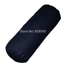 aa134g Dark Blue 100% Cotton Canvas Round Bolster Yoga Cushion Cover Cushion Case Pillow Case (Custom Size ,53 kinds of colors