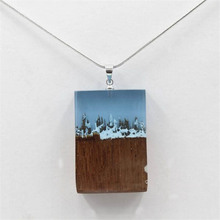 Popular Magic Jewelry Resin Wood Necklaces & Pendants Wooden Resin Handmade Secret Transparent Necklaces For Women Holiday Gift