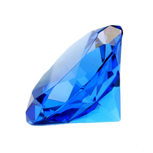 Garland Chakra Spectra Blue Rainbow K9 Crystal DIamond Fengshui Raw Amber Wedding paperweight souvenirs Gift Products For Guests(China)