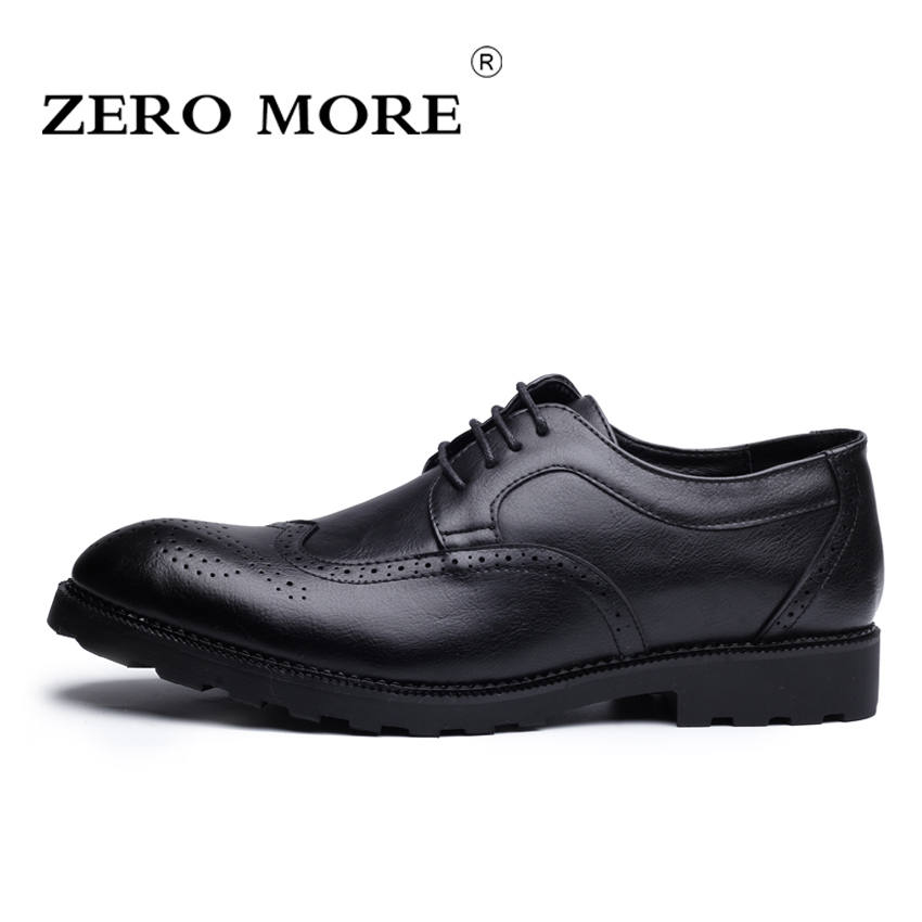 Big Size 46 New Fashion Men Wedding Shoes ZERO MORE Gray Black Brown Men Shoes Flat Business British Lace-up Mens Shoes #ZM127<br>