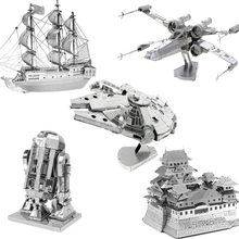 3D Jigsaw Puzzles For Kids 2016 Star Wars 3D Nano Metal DIY Scale Model Building Architecture Educational Toys For Toddlers