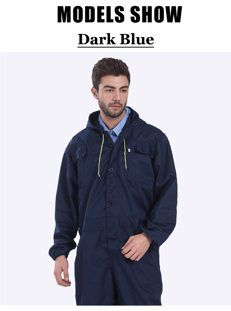 Work clothing Mens coverall repairman jumpsuits trousers working uniforms Workwear coveralls Plus Size long sleevel coveralls 30