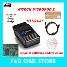 WITECH MicroPod2 latest V17.04.27 For Chrysler/Dodge/Jeep/Fiat diagnosis tool wiTECH MicroPod II original software online update