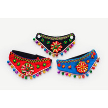 Fashion Puppy Pet Ethnic wind bells Triangular Bandage Scarfs Collar for Dog Cat(China)