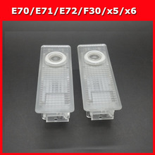 2pcs Car Door light E70 E71 E72 F30 x4 4 series car Courtesy Projector light door Logo 3d Ghost Shadow Light no drilling(China)