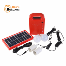 Boguang 3W 7.8V Mini Solar Home System Portable Solar Energy Kit Bulbs Lead Acid Battery outdoor camping LED light(China)