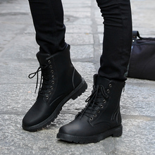 Fashion High Male Boots High Top Casual Flat Boots Waterproof Military Boots for Men Autumn Shoes X389 6