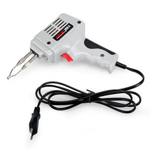 Eu 220v 240v 100w Electrical Soldering Iron Gun Hand Welding Tool With Solder Wire With Lights 2017 Top Fashion Hot Sale