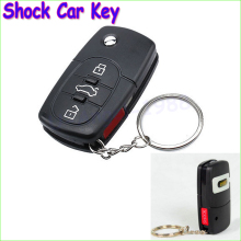1pcs Electric Shock Gag Joke Prank Car Key Remote Control Fun with LED Light Electronic Toys Drop freeship(China)