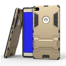 For Huawei P8 Phone Case Tough Armor Cases Bracket Stand Design Phone Case For Huawei P8(China)