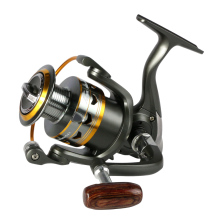 2017 hot metal Fishing Reel 11BB 2000 - 6000 series spinning reel for feeder fishing Wood handle fishing reels pesca(China)