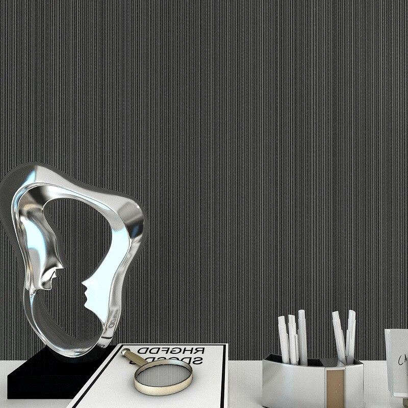 Dark gray non - woven wallpaper simple plain thin striped wallpaper bedroom living room sofa background wallpaper solid color<br><br>Aliexpress