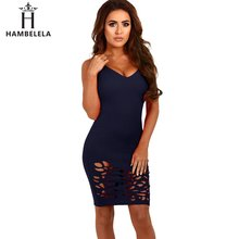 Buy HAMBELELA 2017 Summer Hot Sale Sexy Dress Gallus V-Neck Hollow Club Wear Bodycon Fashion Bandage Sexy Tyapeze Dress for $7.94 in AliExpress store