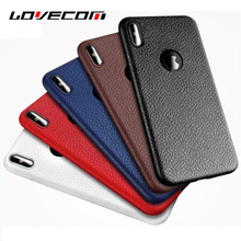 Buy LOVECOM iPhone X Case Luxury Leather Grains Soft TPU Protective Mobile Phone Cases Back Cover Coque Shells Fundas Bags for $1.86 in AliExpress store