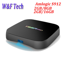 10pcs T95R Pro Android TV Box Amlogic S912 Octa core 2GB RAM 8GB/16GB ROM Dual Band WiFi KD Player H.265 UHD 4K Player(China)