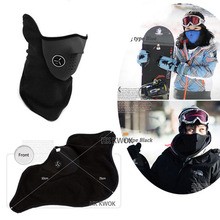 Outdoor windproof Cycling Mask Riding Bicycle Fleece Winter Warm Half Face Winter Ski Mask Motorcycle Sport Mask Dust Protecting