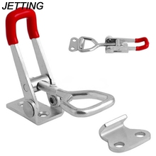 Adjustable Toolbox Case Metal Toggle Latch Catch Clasp Length Silver+Red(China)