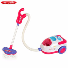 Pretend Play Toy Vacuum Cleaner With Music And Light For Girls Novelty Cosplay Educational Toy Dust Colletor Gifts Toys For Kids(China)