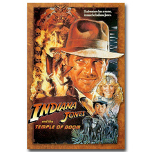 "INDIANA JONES and The Temple of Doom RARE HOT NEW Art Silk Fabric Poster Print 12x18 24x36"" Films Pictures For Room Decor 001(China)"
