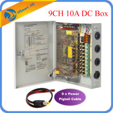 9CH DC12V 10A Power Supply Distribution Box CCTV Security Surveillance Camera For LED Strip String Light POWER
