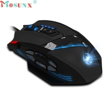 mosunx Mecall Tech For Zelotes C-12 Programmable Buttons LED Optical USB Gaming Mouse Mice 4000 DPI gaming mouse