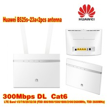 Huawei B525s-23a 4G LTE WLAN Router 300Mbit plus 2pcs antenna(China)