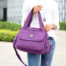 Women Messenger Bag Vintage Travel Fashion Crossbody Bags Bolsas Femininas Handbags Female Solid waterproof Nylon Shoulder Bags(China)
