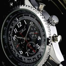 JARAGAR Luxury Watch 6 Hand Automatic Mechanical Watches Stainless Steel Men's Wristwatch Free Ship