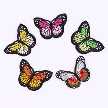 1Pcs  Butterfly Patch For Clothing Iron On Embroidered Sew Applique Cute Patch Fabric Badge Garment DIY Apparel Accessories