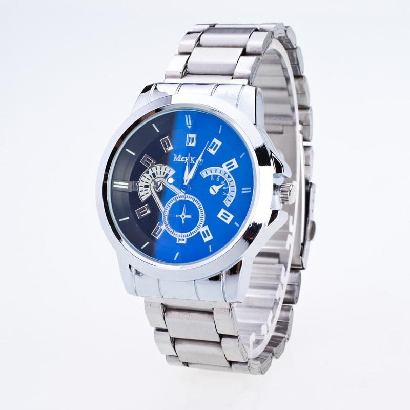 Top Brand Luxury Men Watches Waterproof Dress Watch Men Stainless Steel Clock Male Casual Military Wrist Watch Silver OP001<br><br>Aliexpress