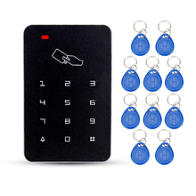 Buy Black standalone door access controller 125KHz RFID card reader keys electric password lock door access control system for $10.65 in AliExpress store