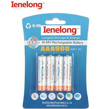 4pcs 100% genuine authentic NI-MH Ienelong batteries Low self-discharge 4pcs/lot AAA 900mAh 1.2V rechargeable battery