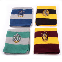 Child Boy Girl Striped Scarves MagicSeries Cotton Embroidered  Cute Wraps Badge Personality Cosplay Knit Scarves