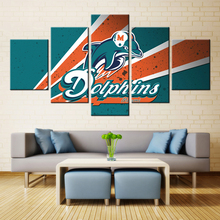 American Football Sport Team Logo Miami Fashion Artwork Canvas Painting Wall Art Picture HD Print For Home Decoration
