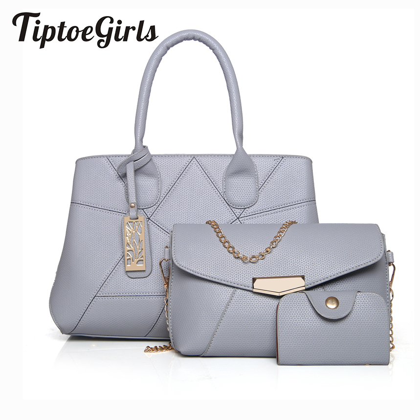 Womens Bag Mother Three Sets of New Ladies Bag Korean Tide Handbag Shoulder Bag Fashion Messenger Bag<br>