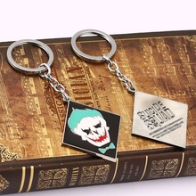 12pcs/lot Suicide Squad keychain new design anti-hero image keychain  key holder Movie Series TASKFORCE Key Chain For Gift