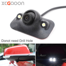 XCGaoon mini CCD Car Front Side View Camera Night Version with 2 LED Lights 140 Degree Wide Angle Real Waterproof(China)