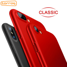 Torras Case for iPhone x 8 7 6 6s Plastic Phone Case Black Red Matte PC Protective Thin Phone Cover for iPhone 8 7 6s Plus Coque(China)