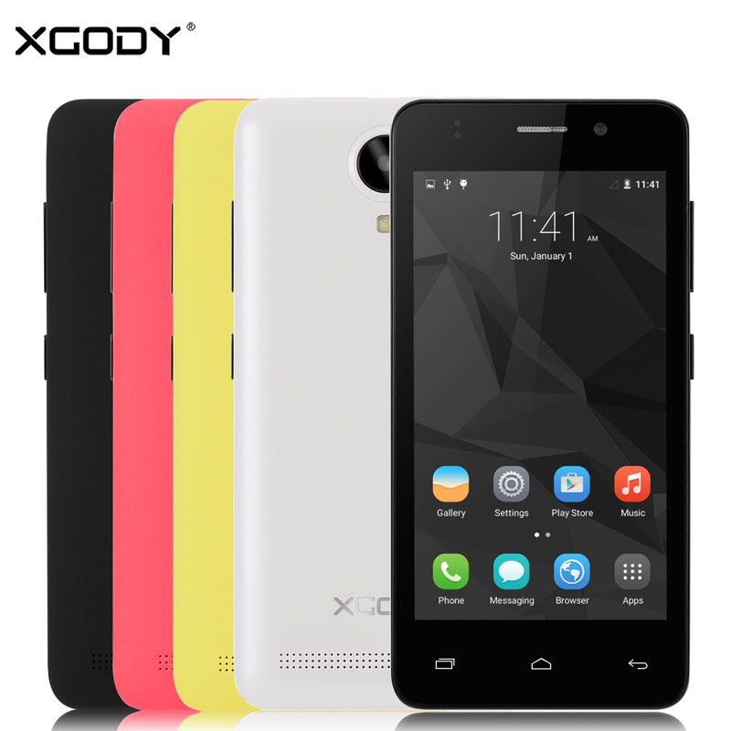 XGODY Smartphone 1GB RAM 8GB ROM Quad Core 2SIM Wifi 5MP Camera G12 4.5''Android 5.1 Telefone Celular 3G Unlocked Cell Phone(China (Mainland))