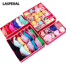 LASPERAL Multi-size Underwear Bra Organizer Storage Box Drawer Closet Organizers For Underwear Scarf Socks Wardrobe Home Storage(China)