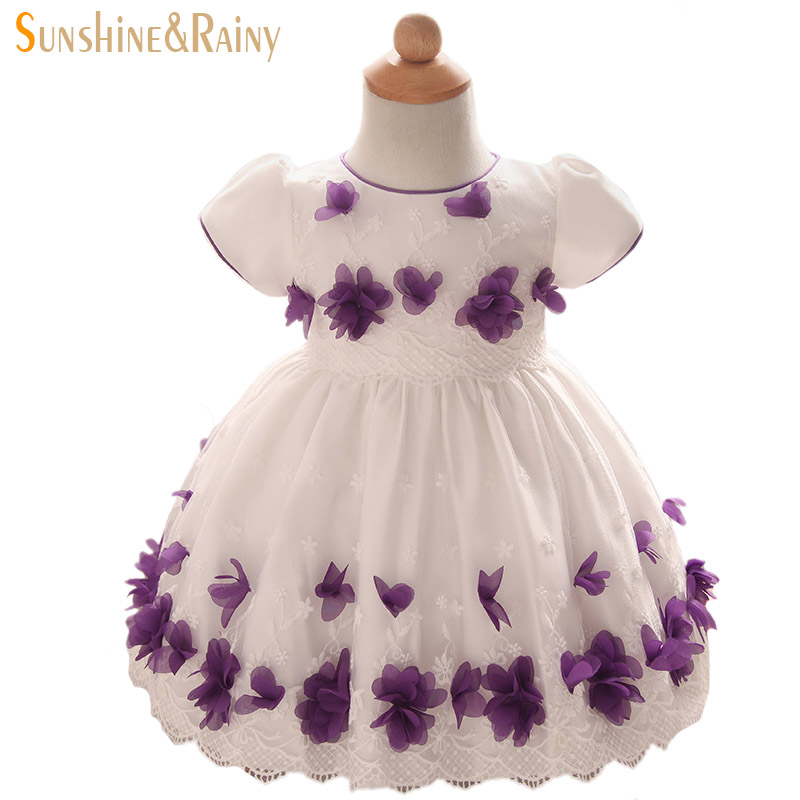 Floral Baby Girls Dresses Spring European American Style Kids Clothing For Girls Fashion Printed Yarn Princess Dresses For Girls<br><br>Aliexpress